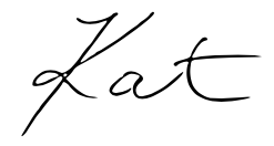 Signature of the author, Kat.