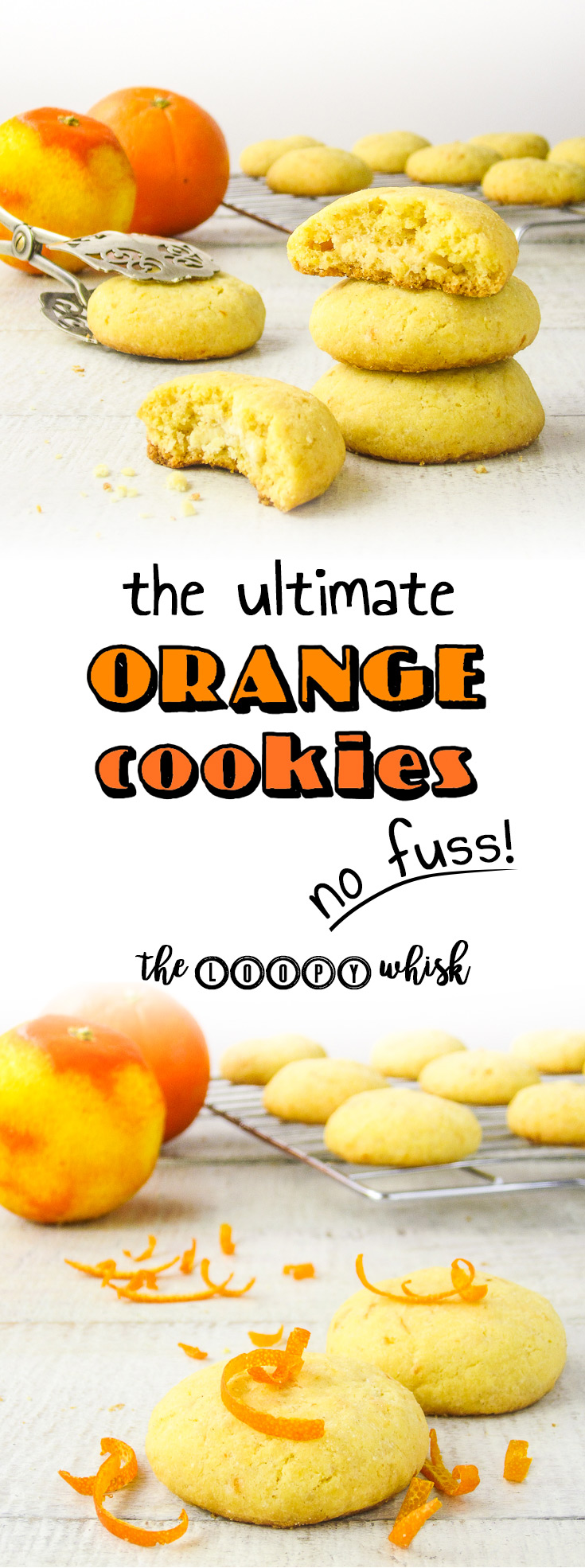 The Ultimate Orange Cookies - Orange juice in the buttery, crumbly cookie form. This no fuss recipe ensures you go from craving warm cookies to stuffing your face with them in under an hour.