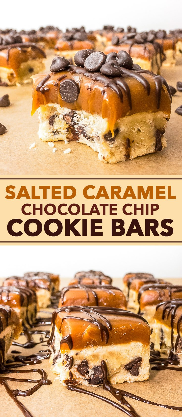 Salted Caramel Chocolate Chip Cookie Bars - The Loopy Whisk