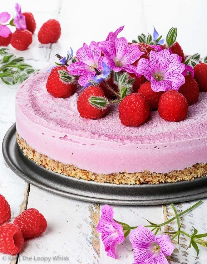 Raw Vegan Raspberry Cheesecake The Loopy Whisk