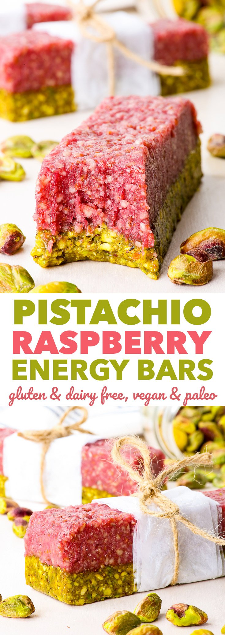 Pistachio Raspberry Energy Bars - The Loopy Whisk