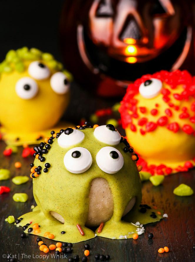 spooky monster halloween cake balls gluten nut soy free dairy