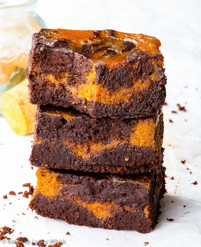 Flourless Paleo Pumpkin Brownies