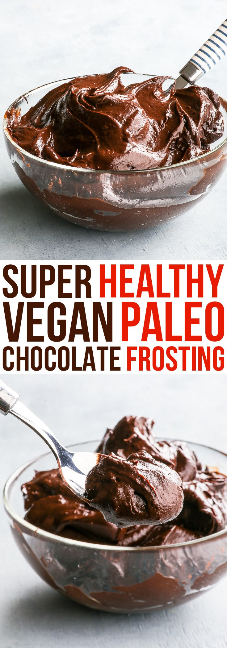Super Healthy 3-Ingredient Vegan & Paleo Chocolate Frosting {gluten, dairy, egg, nut, soy & refined sugar free, vegan & paleo} - This healthy 3-ingredient paleo & vegan chocolate frosting is perfect for when you get hit with that chocolate craving, but still want something healthy and wholesome. Super easy and quick to make, this healthy chocolate ganache is perfect for frosting cakes, brownies or, you know… a spoon.