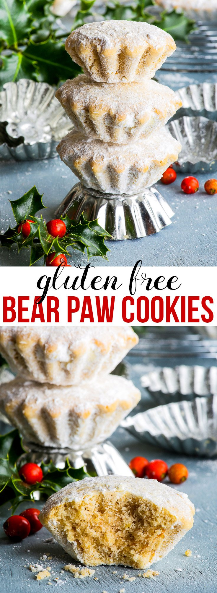 Gluten Free Croatian Bear Paw Cookies - These wonderful Croatian bear paw cookies are a Christmas favourite in our house – buttery, sweet, rich and so incredibly aromatic! A gluten free variation on a traditional Croatian cookie recipe, this is bound to become your favourite Christmas cookies recipe.