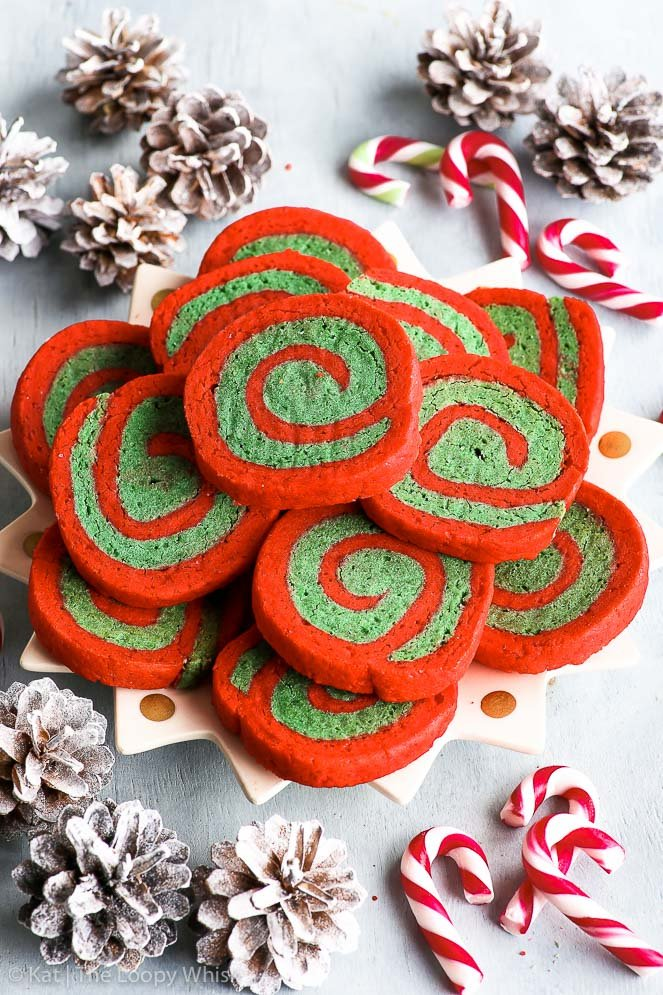 Gluten Free Christmas Pinwheel Cookies The Loopy Whisk