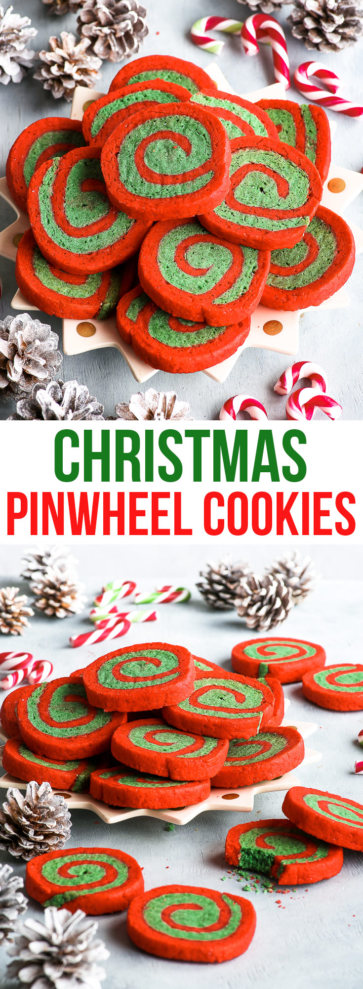 Gluten Free Christmas Pinwheel Cookies {gluten, nut & soy free} - Fun, quirky and adorable, these gluten free Christmas pinwheel cookies are bound to become a holiday favourite. A super easy holiday cookie recipe for pretty red and green Christmas cookies. #christmas #christmascookies #cookies #glutenfree