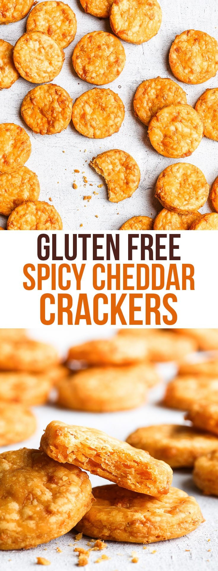 Gluten Free Spicy Cheddar Crackers {gluten, egg, nut, soy & refined sugar free} - Pure flaky, buttery, spicy, cheesy goodness – these gluten free crackers are what snacking dreams are made of. With the slight heat from the chilli and smoked paprika, and all the cheesy deliciousness from the cheddar, what's not to love about these spicy cheddar crackers?! The perfect quick gluten free snack recipe! #snacks #glutenfree #recipe #cheese #food