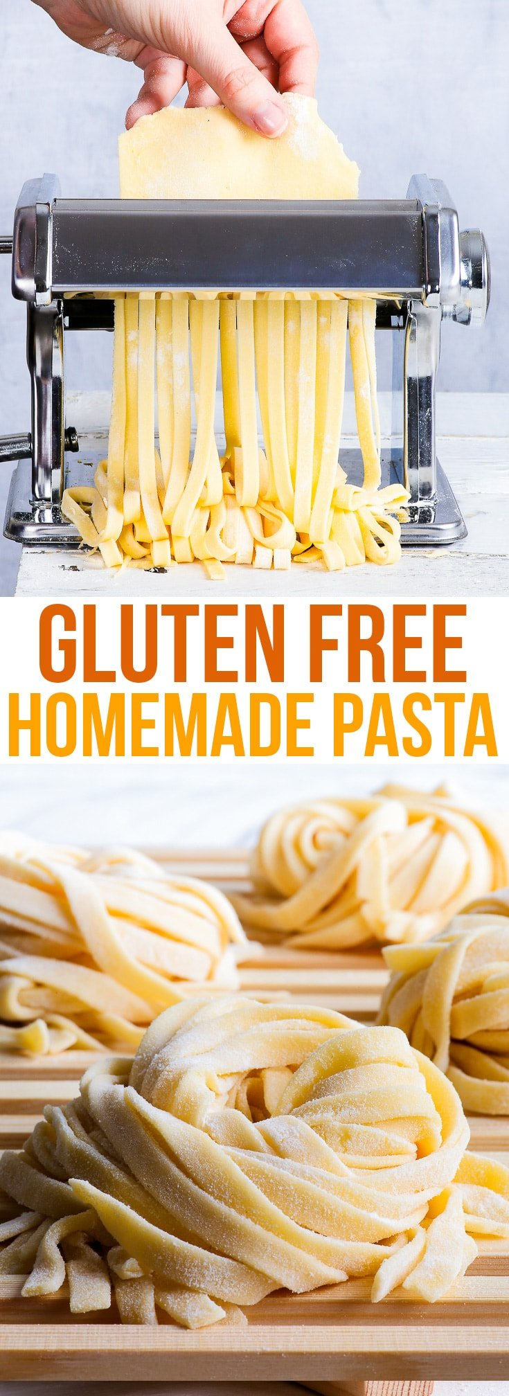 3-Ingredient Homemade Gluten Free Pasta {gluten, dairy, nut, soy & refined sugar free} - A simple and reliable 3-ingredient homemade gluten free pasta recipe. Once you've tasted this gluten free pasta from scratch, you'll never go back to the store-bought stuff. The perfect thing to have on hand for a quick gluten free lunch or dinner! #glutenfree #pasta #food #lunch #dinner #recipe