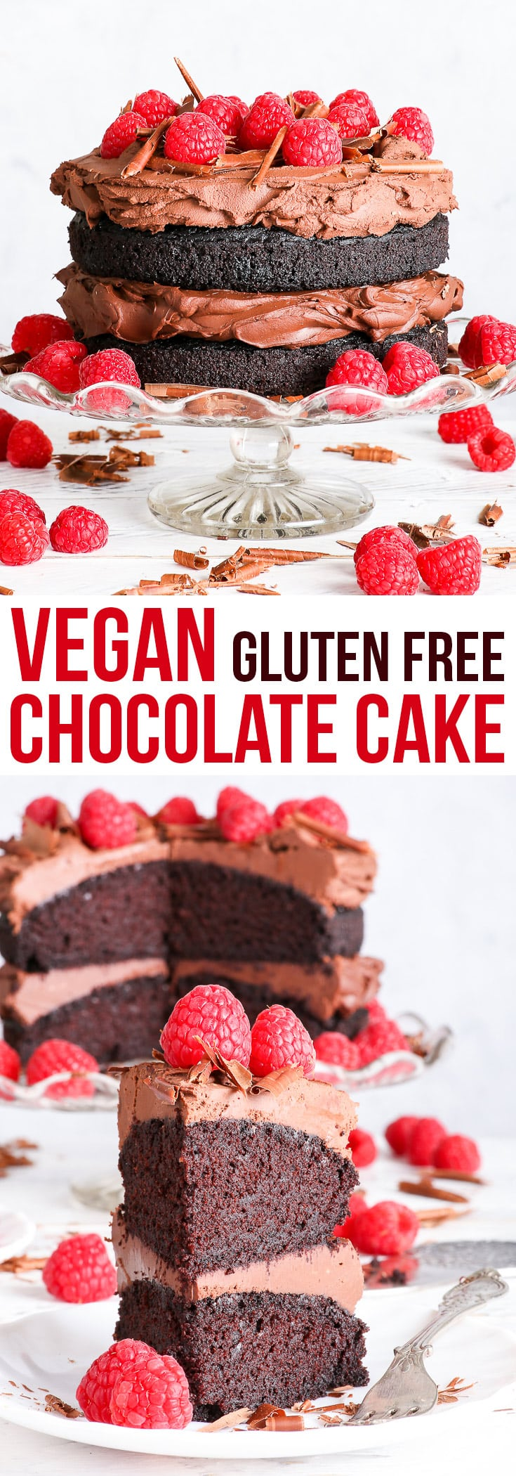 The Best Gluten Free Vegan Chocolate Cake {gluten, dairy, egg, nut & soy free, vegan} - This gluten free vegan chocolate cake will blow you away – with how it looks, how it tastes and how incredibly easy it is to prepare. No fuss, no weird fancy ingredients, only an hour of your time… and you've got yourself a decadent, gorgeous gluten free vegan cake. #vegan #glutefree #dairyfree #chocolate #cake