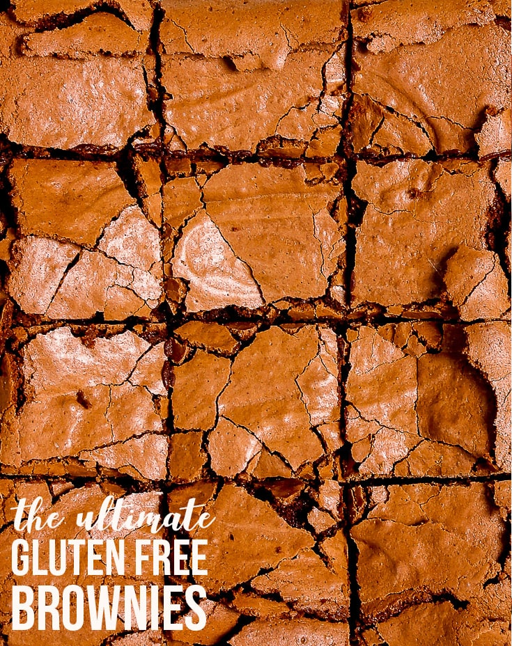 The Ultimate Gluten Free Brownies {gluten, nut & soy free} - These gluten free brownies have it all: the fudgy, gooey centre, the intense chocolate flavour and the most perfect shiny, crackly top. This easy fail-proof recipe only takes half an hour from start to finish, making these gluten free brownies the perfect mid-week (or midnight) treat. The perfect easy gluten free dessert. #glutenfree #brownies #chocolate #food #recipes #dessert