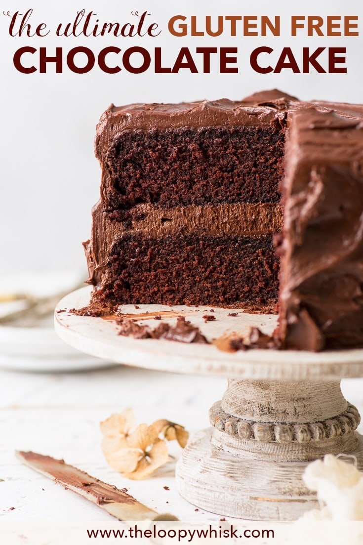 The Ultimate Gluten Free Chocolate Cake The Loopy Whisk