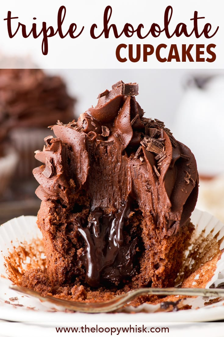 Triple Chocolate Cupcakes The Loopy Whisk