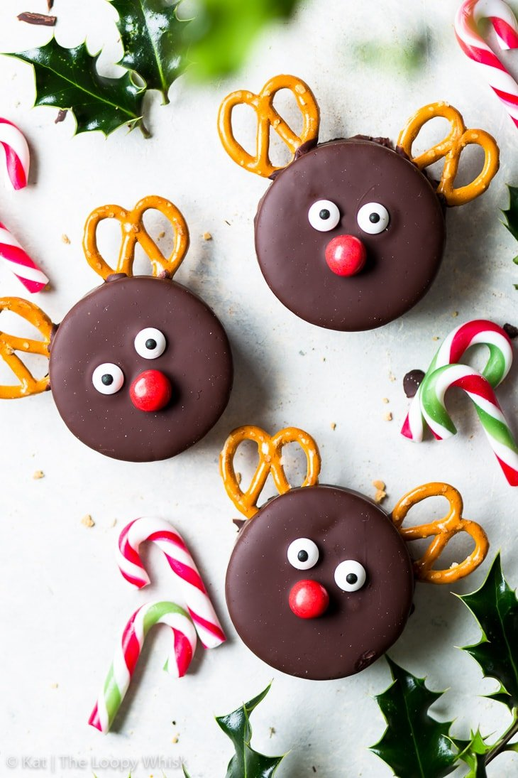 Chocolate Marshmallow Rudolph Cookies The Loopy Whisk