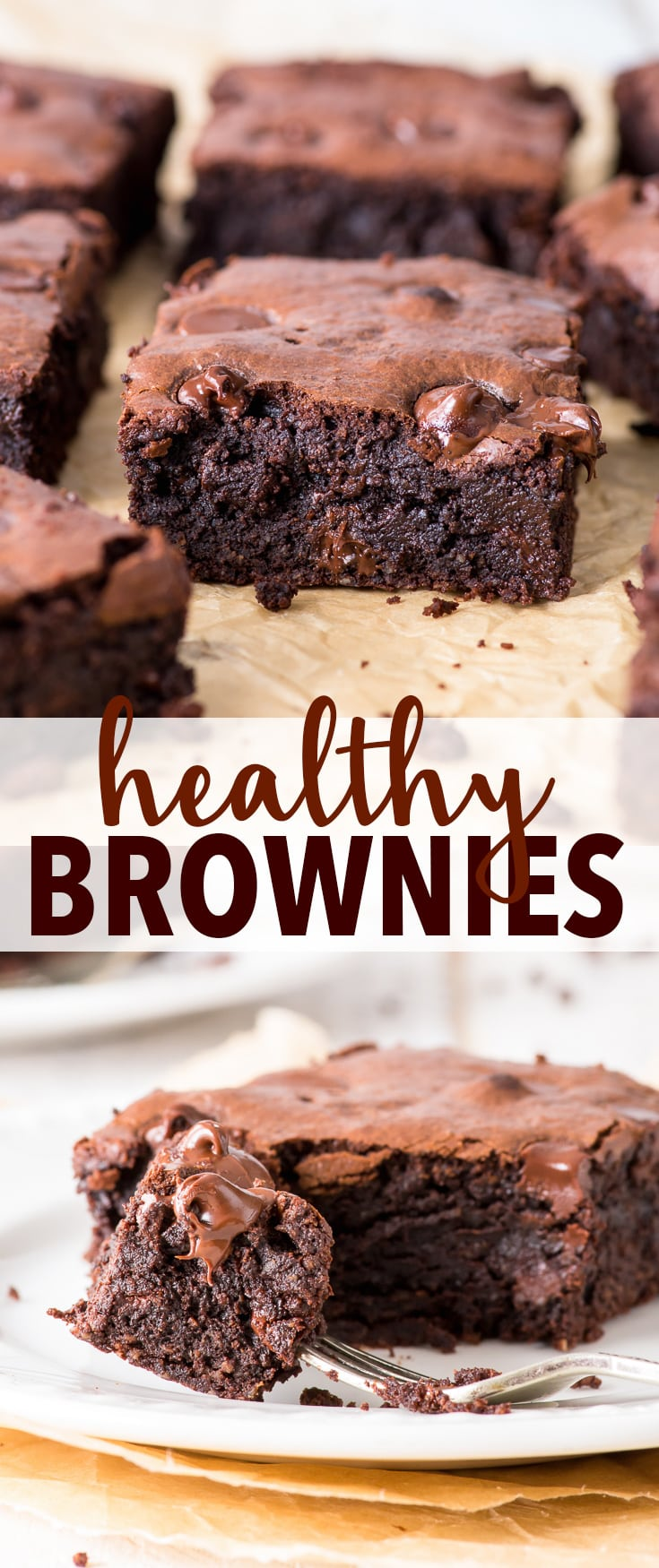 Super Fudgy Healthy Brownies (Gluten Free, Grain Free, Dairy Free, Paleo) - These healthy brownies have it all – the luscious fudgy texture, the intense chocolate flavour and they're easy to make! Plus, they're gluten, grain and dairy free, as well as paleo. Brownie recipe. Healthy recipes. Healthy food. Healthy dessert recipes. Paleo brownies. Grain free recipes. Fudgy brownies. Gooey brownies. Dairy free desserts. Gluten free desserts. Paleo desserts. Paleo recipes. #healthyrecipes #brownies