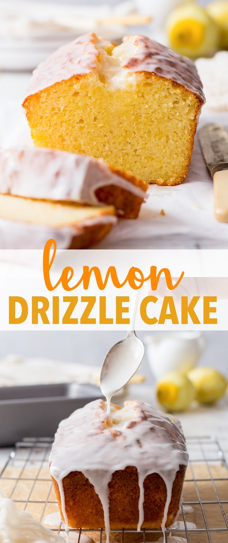 The Perfect Lemon Drizzle Cake (Gluten Free) - Intensely lemony, moist and with a delicate crumb, this lemon drizzle cake has it all. It's the perfect everyday dessert that's easy to prepare, and a joy to eat. Although, with how absolutely delicious it is, it would be welcome at any and all occasions. Lemon dessert. Easy dessert recipes. Gluten free desserts. Lemon cake recipe. Easy cake ideas. Gluten free cake. Pound cake. Lemon icing. Lemon frosting. #cake #recipes