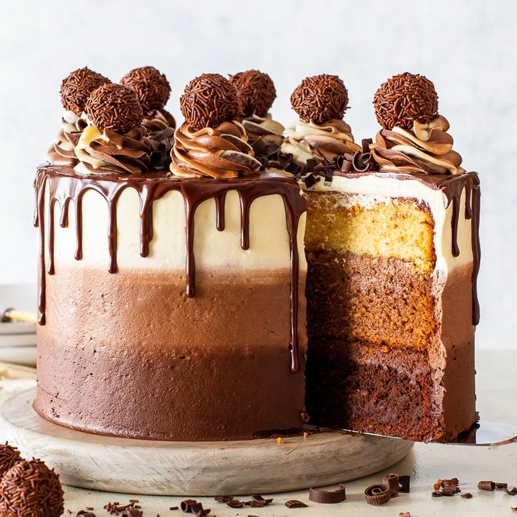 The Most Epic Triple Chocolate Cake The Loopy Whisk