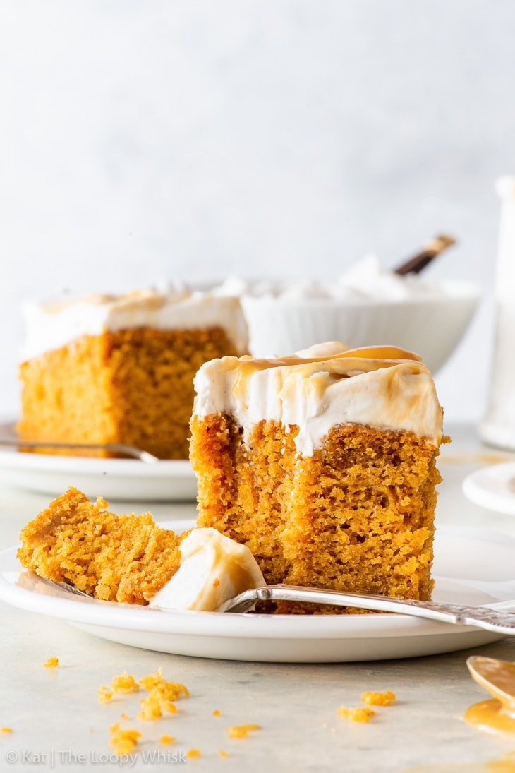Vegan Pumpkin Cake With Butterscotch Swirl Frosting The Loopy Whisk