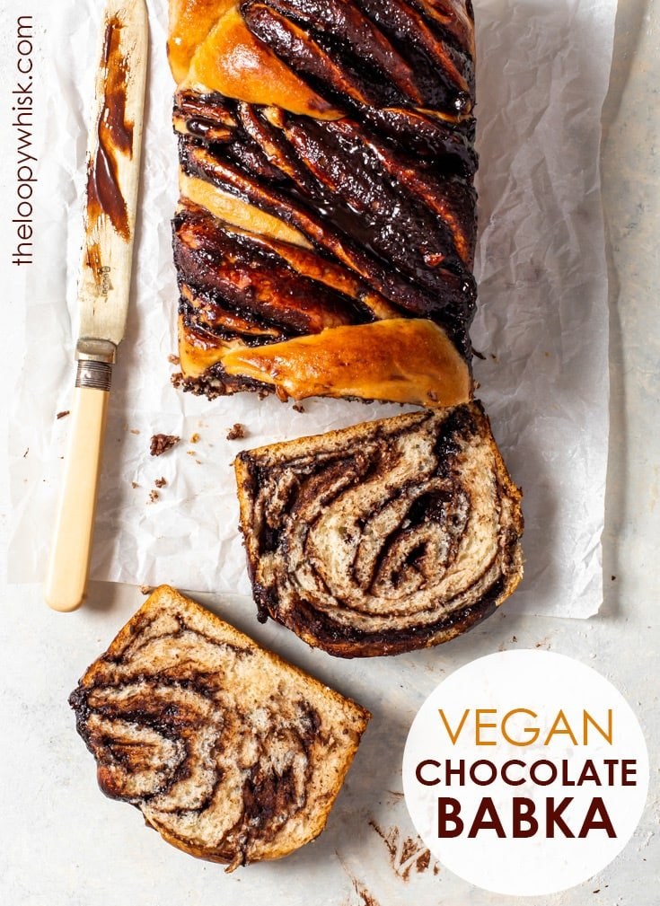 Easy Vegan Chocolate Babka (Chocolate Twist Bread) - [SPONSORED] From its rich, soft dough to the most luscious chocolate fudge filling (ever), this vegan chocolate babka tastes just as heavenly as it looks. Without any strange egg replacements, this vegan treat couldn't be easier to make – and you'll love it. Vegan dessert recipe. Vegan chocolate fudge sauce. Chocolate babka recipe. Chocolate bread. Vegan bread. Plant based recipes. #babka #vegan