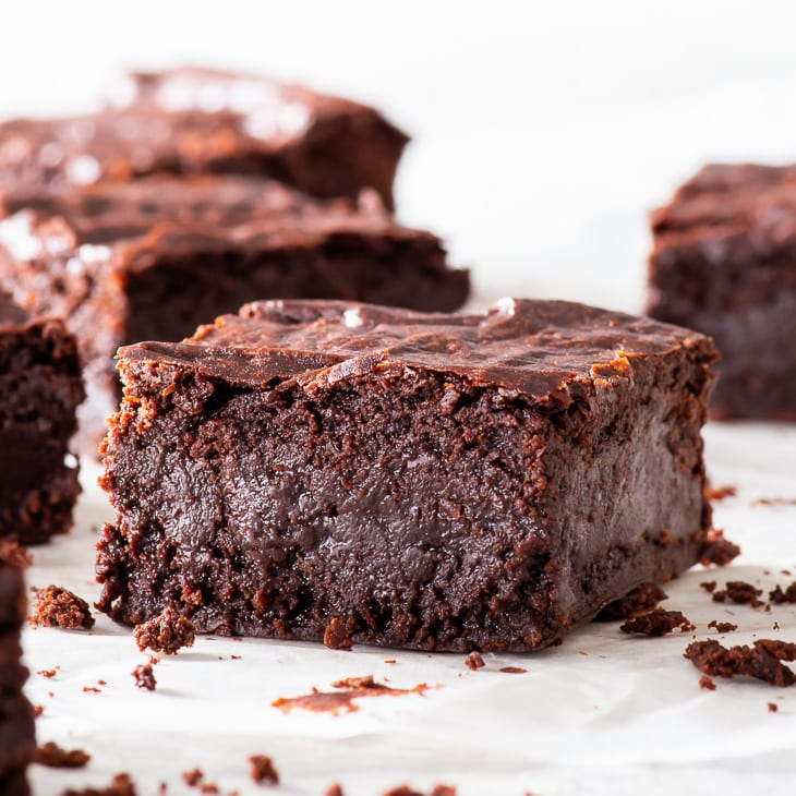 The Ultimate Fudgy Vegan Chocolate Brownies The Loopy Whisk