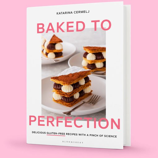 Baked to Perfection cookbook mockup.