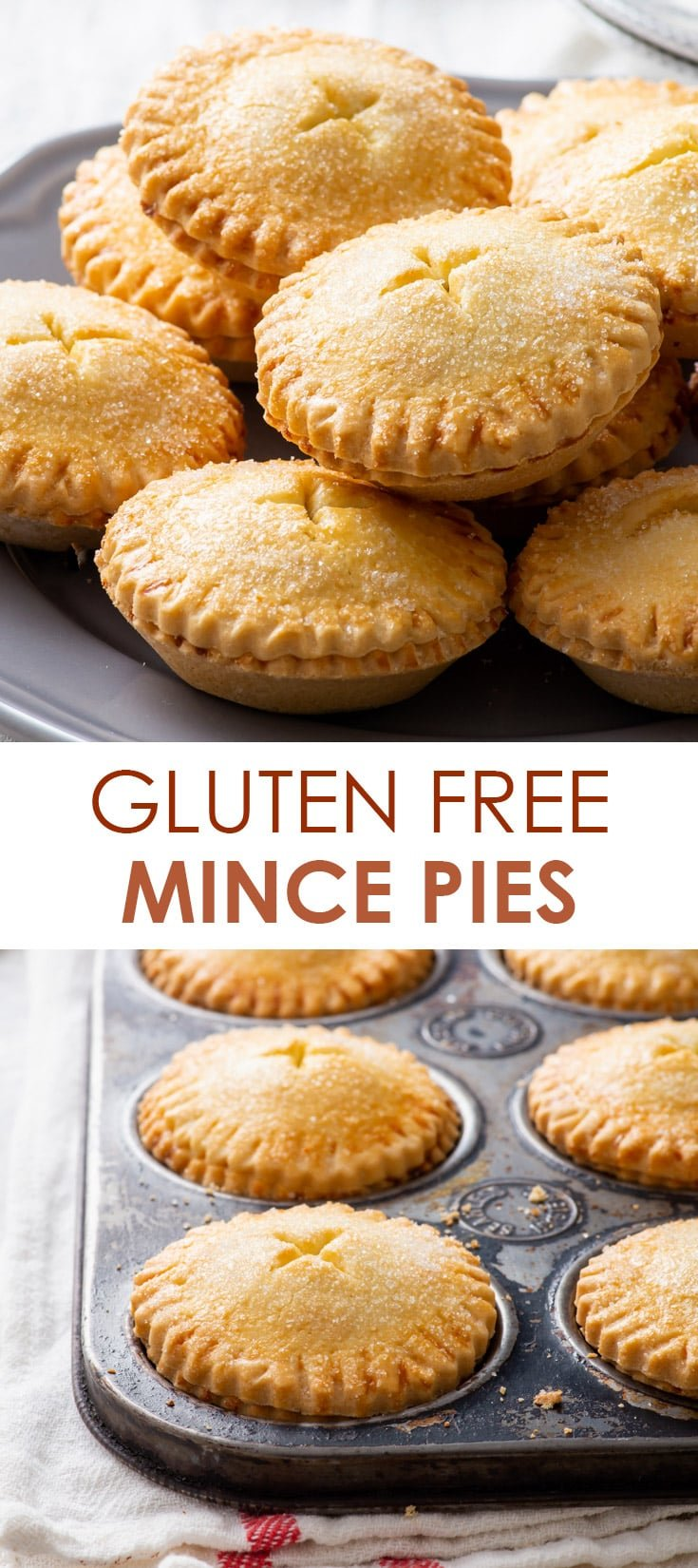 Pinterest image for gluten free mince pies.