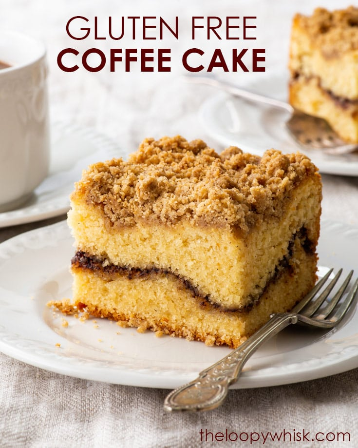 Pinterest image for gluten free coffee crumb cake.