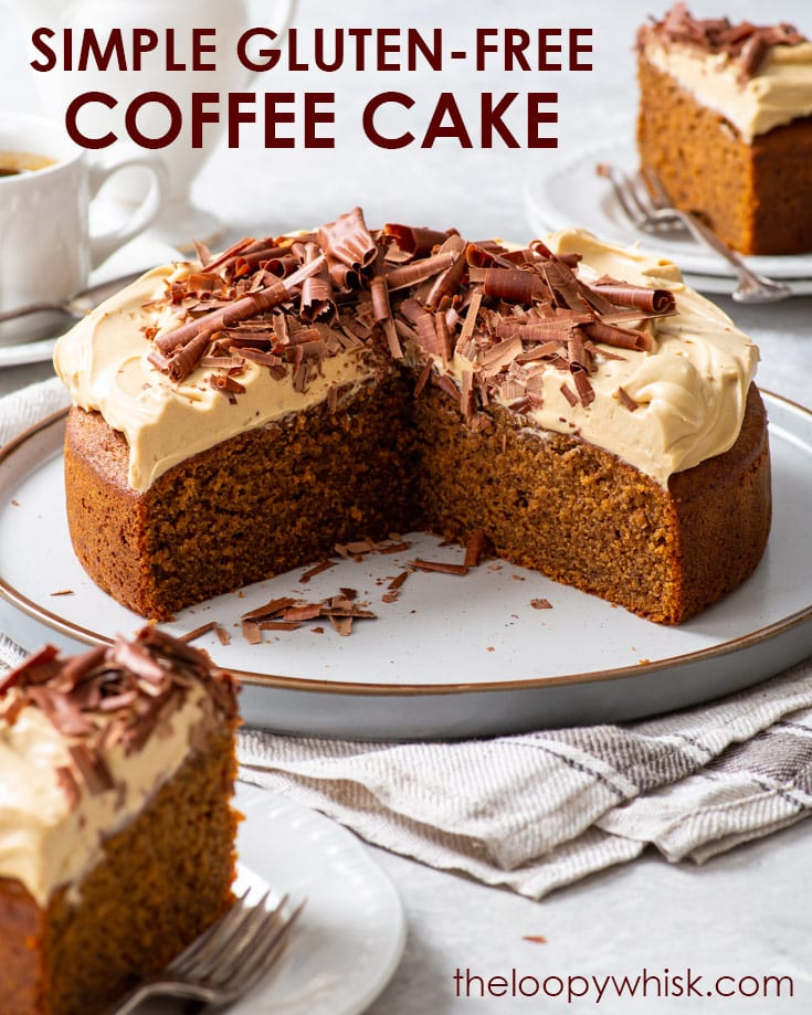 Pinterest image for coffee cake with cappuccino frosting.