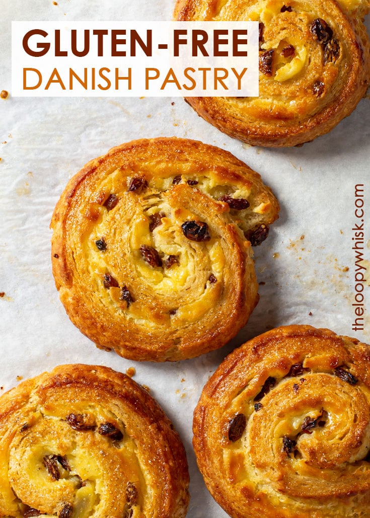 Pinterest image for gluten free Danish pastry.