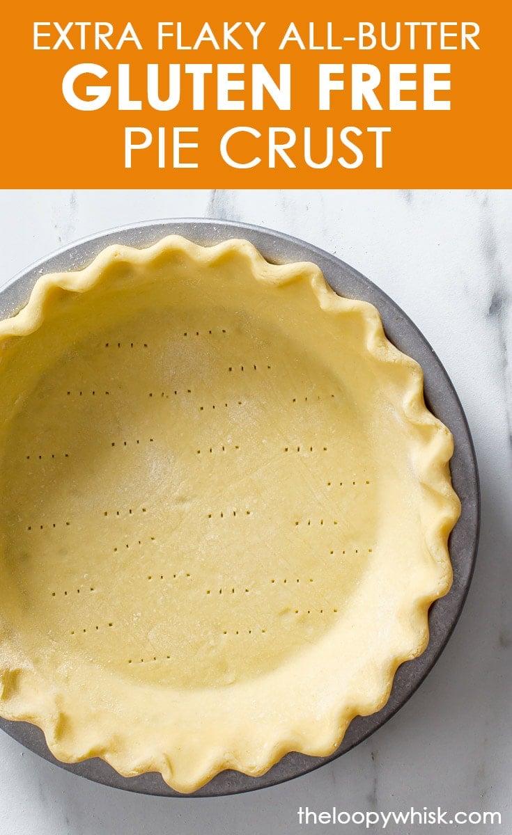 Pinterest image for gluten free pie crust.