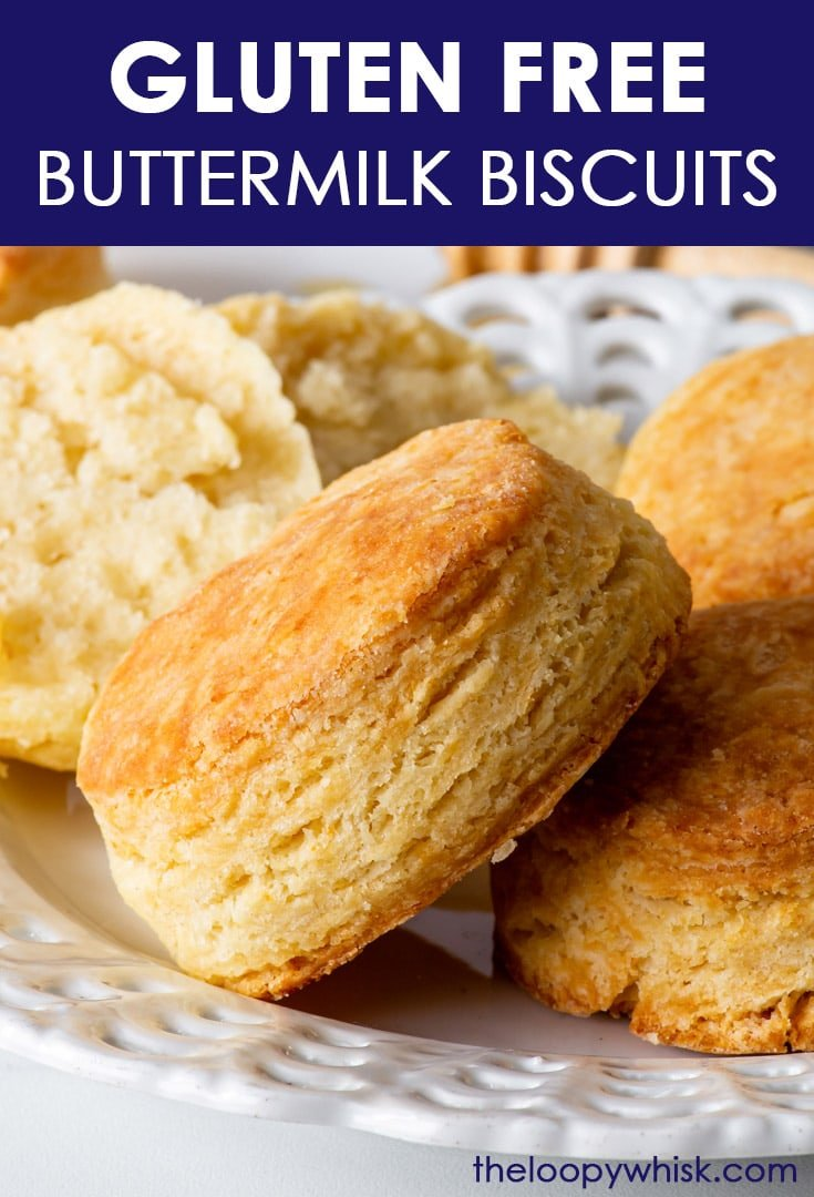 Pinterest image for gluten free buttermilk biscuits.